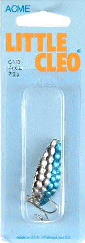 - Acme C140-HNB 1/4-Ounce Little Cleo Fishing Lure, Hammered Nickel and Blue