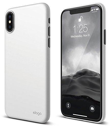 elago Origin Series for iPhone Xs, iPhone X Case - Minimalistic Design Slim Fit Scratch Resistant Protective Cover for Apple iPhone Xs (2018)/ iPhone X (2017) - White