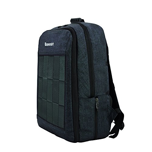 Renogy Solar Panel Powered Backpack Water Resistant Laptop Bag with USB Charging Port for Business Travelling Hiking Fits Under 15.6 Inch Notebook