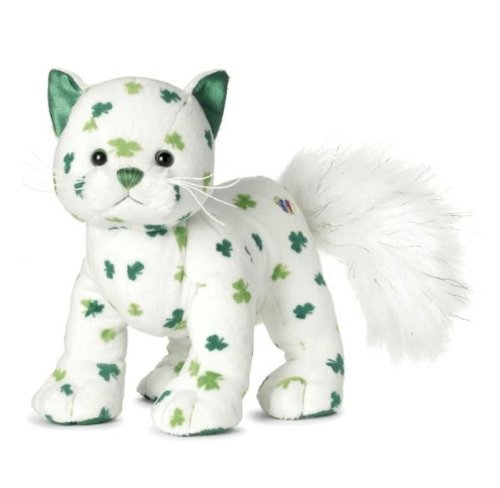 Webkinz Clover Cat with Trading Cards