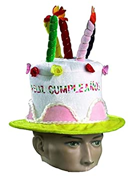 DISBACANAL Sombrero Tarta cumpleaños: Amazon.es: Juguetes y ...