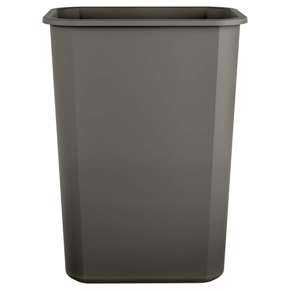 Basics 10 Gallon Commercial Waste Basket 12-Pack Suncast Corporation TCIND1012GYA Grey
