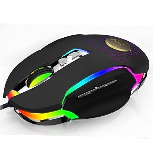 Gaming Mouse, Webat BK600 Gaming Mouse 250-4000 DPI Ergonomic Comfortable Grip High Precision