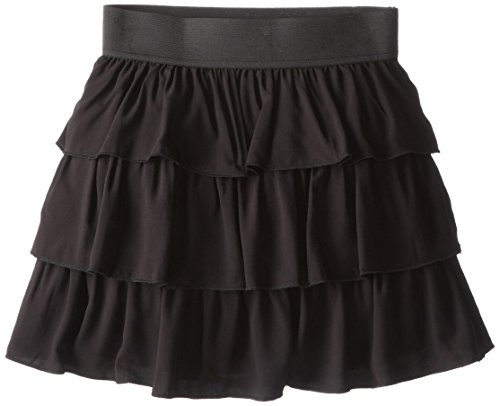 Amy Byer Big Girls#039 Woven Tiered Skirt Black Medium