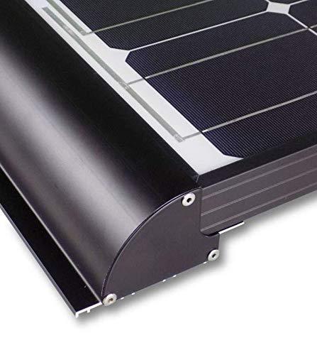 Solarspoiler-Set aus Aluminium -Schwarz (630mm, Schwarz)
