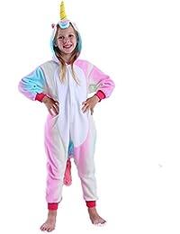 Kids Unicorn Onesie Pajamas Cosplay Halloween Costume for Girls and Boys