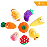MAIAGO Squeaky Dog Toys, Dog Squeak Toys for Pets, Squeaky Plush Dog Toys, Dog Chew Toys for Medium and Small Dogs Animals - Pack of 8 … (8 PACK)