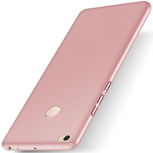SMTR Xiaomi Mi Max 2 (6.44) Funda, Calidad Premium Cubierta Delgado Caso de PC Hard Gel Funda Protective Case Cover para Xiaomi Mi Max 2 -Azul Oro rosa