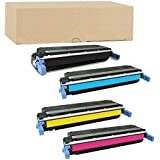 ADE Products Compatible Replacement Toners for HP 645A Toner Cartridge Set, HP 9730A C9731A C9732A C9733A Toners for use in HP 5500n 5500dn 5500hdn 5550n 5500dtn 5500 5550dtn 5550 5550hdn Printers
