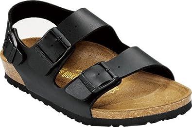 Milano Sandals Birko-Flor - EUR 35 - narrow - Black - Birko-Flor
