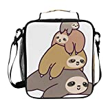 Lunch Box Insulated Waterproof Cartoon Sloth Lunch Bag for School Office Picnic