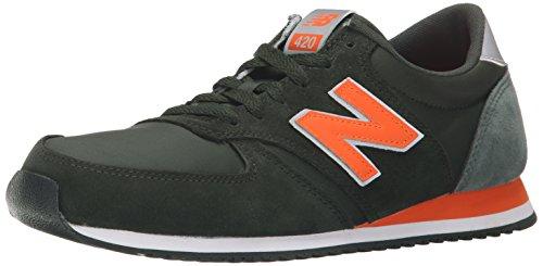 New Balance U420, Zapatillas Unisex Adulto Negro / Naranja
