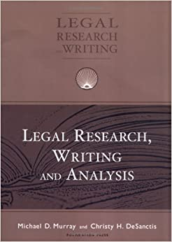 Book Legal Research, Writing and Analysis (University Casebook Series)