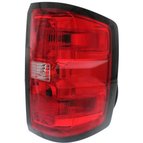 Tail Light Compatible with CHEVROLET SILVERADO 1500 2014-2015/2500 HD/3500 HD 2015 RH Assembly (2500/3500 HD with Dual Rear Wheels) All Cab Types