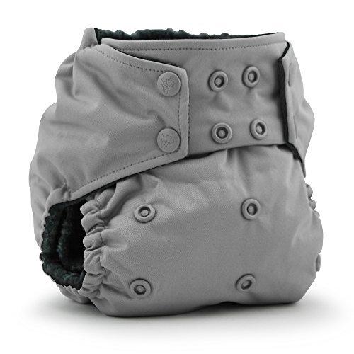 Rumparooz OBV One Size Cloth Diaper - Snap - Glacier - Organic Cotton Velour Fitted Diaper