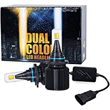 2018 J+ 9006 Low Beam headlamp & Fog Driving Light, Gold White Dual Color LED with 8000lm Souel LED Chips,LED Headlight Conversion Kit Low Beam & Fog Light,3000K/6500K,9006 HB4 9006XS -1 Yr Warranty