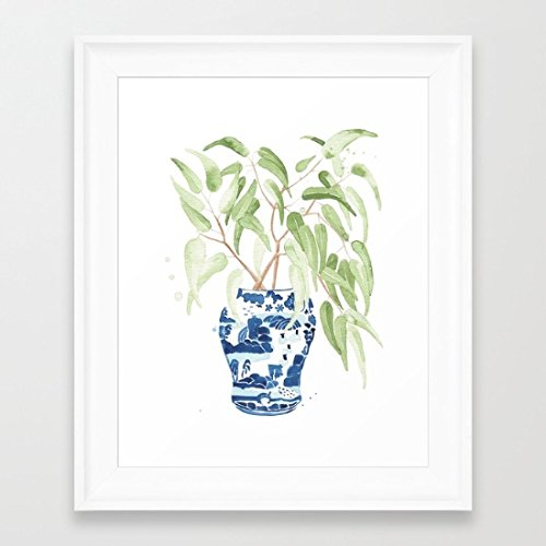 Beautiful Eucalyptus Framed Pictures Hardware Wooden Framed Prints Art Ready to Hang Holiday Gifts