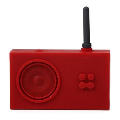 Lexon Tykho Rubber Radio, Red from Lexon