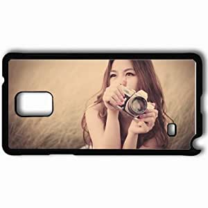 Personalized Samsung Note 4 Cell phone Case/Cover Skin Asian Camera Grass Style Black