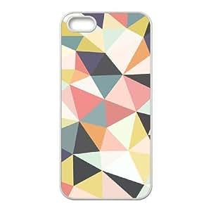 DIY iPhone 5,5S Case, Zyoux Custom Unique iPhone 5,5S Phone Case - Colorful Geometric Mosaic