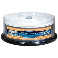 OpticalQuantum6X 25GBBD-R Glossy White Inkjet Hub Printable - 25 pcs
