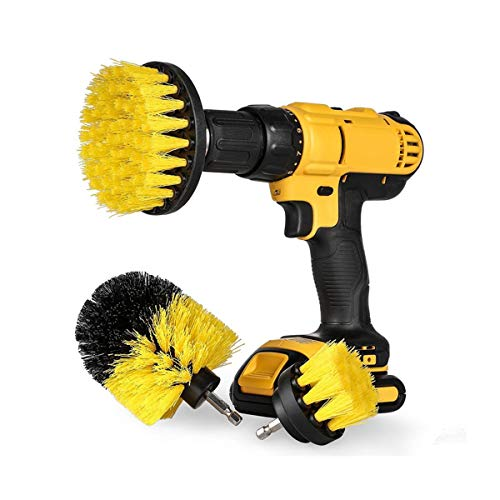Tile Cleaner - 3pcs Eletric Drill Brush Tile Grout Scrubber Cleaning Tub  Cleaner Combo - Mildew Tile Vacuum Cleaner Broom Organic Bissell Solution