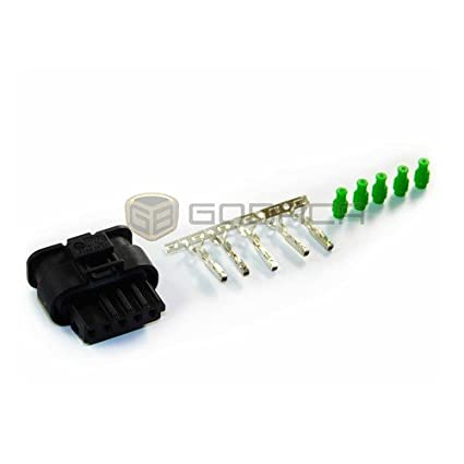 amazon com: 1x connector wiring harness 5 pin 5-way for bmw w/out wire:  automotive