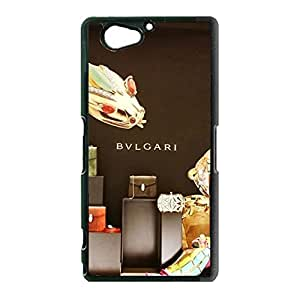 Beauty Style Bvlgari Logo Cover Case for Sony Xperia Z2 Compact Bvlgari Jewelry Pattern Phone Case