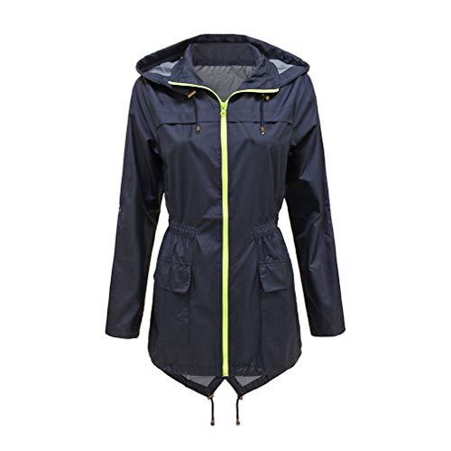 Donna Fangcheng Tuta Cappuccio Coat Primavera Antivento Blu Lungo Impermeabile Casual Inverno Con Trench Autunno drrx1P