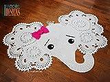 Elephant Playmat Rug Room decoration 100% cotton handmade