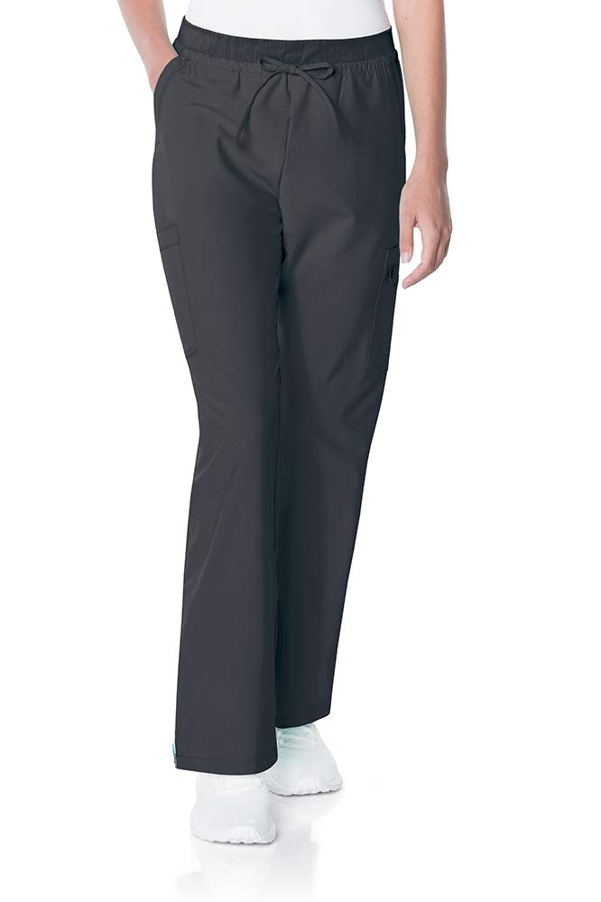 Urbane Women's Quick Cool Double Cargo Scrub Pant with 4 Way Stretch, Steel, XLG