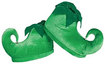 Rubie's Costume Co Deluxe Elf Shoes, Green, One Size