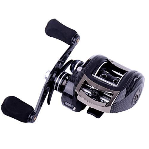 YRODYU Carrete de Pesca, Baitcasting Ultraligero Magnético Centrifugacion Doble Freno Rueda de pez Ancla Aleación de...