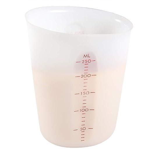 Taza medidora, YYP de 1 taza para exprimir y verter de silicona ...