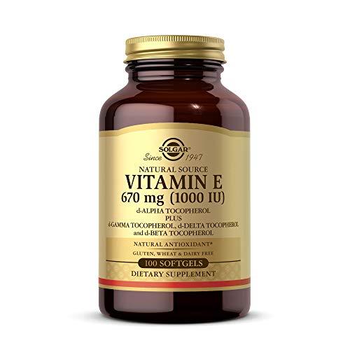 Solgar Vitamin E 670 mg (1000 IU), 100 Mixed Softgels – Natural Antioxidant, Skin & Immune System Support – Naturally…
