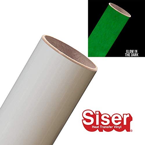 Siser EasyWeed HTV 11.8 x 3ft Roll - Iron on Heat Transfer Vinyl (Glow in the Dark)