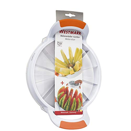 Westmark 12 perfect slices Large Stainless Steel Melon Slicer, Jumbo, White