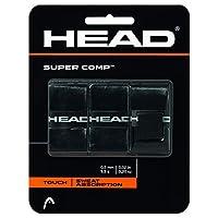 Sobregrip HEAD Super Comp, Negro, paquete de 3
