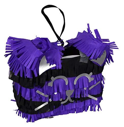 Diy Halloween Pinatas (Purple Cat Halloween Mini Pinata Craft Kit - DIY Crafting Activity for Kids for Treats Holiday)