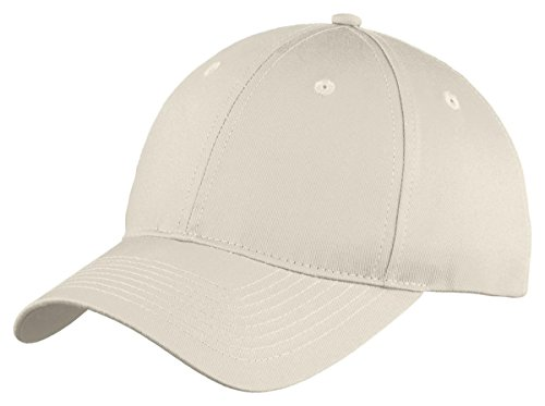 Port & Company Boys Six-Panel Unstructured Twill Cap YC914 -Oyster OSFA - Company Oyster