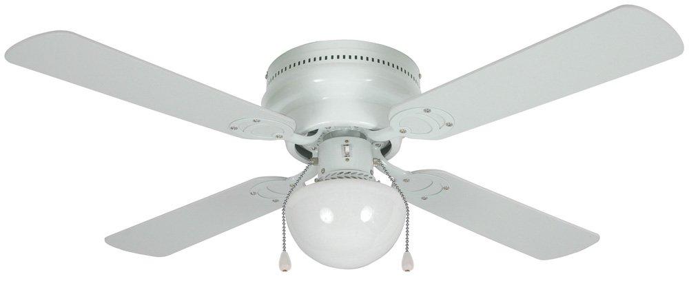 Hardware house 54 3603 aegean 42 inch flush mount ceiling fan with hardware house 54 3603 aegean 42 inch flush mount ceiling fan with optional light fixture and 4 whitelight maple blades white amazon aloadofball Images