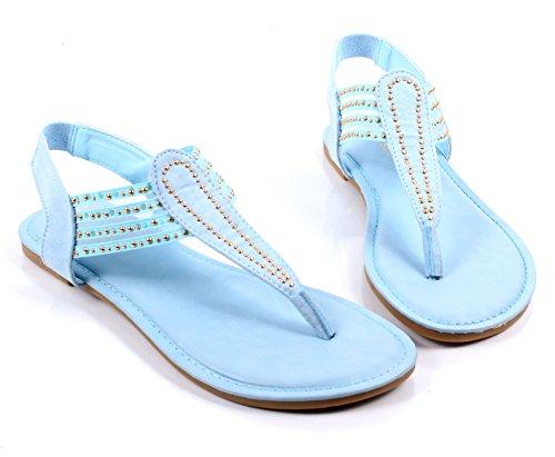Bambu Mode Slip På Bara Stil Blinkslingbacks Lägenheter Kvinna Tillfälliga Sandaler Skor Nya Utan Box Babyblå
