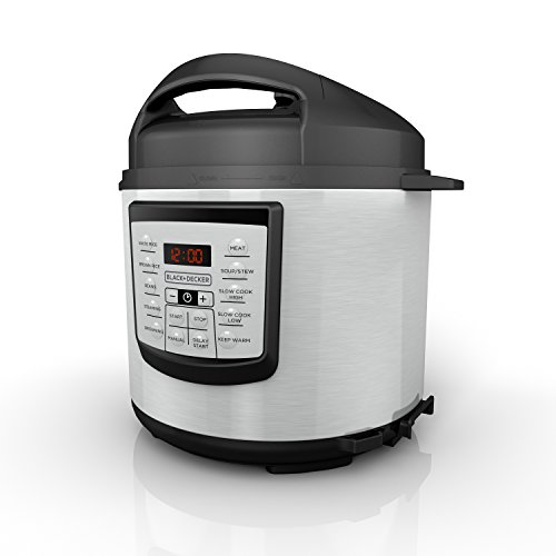 BLACK and DECKER 6 Quart Stainless Steel Digital Pressure Sl
