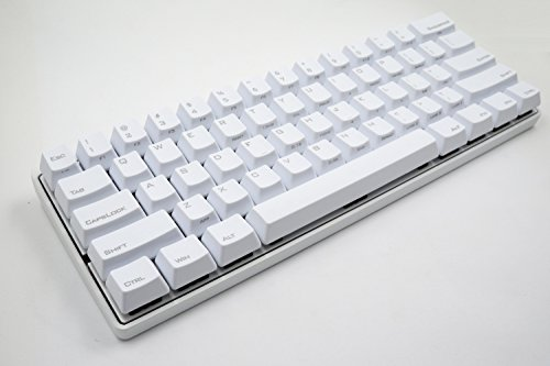 Mechanical Keyboard - KBC Poker 3 (Pok3r) - White Case - PBT Keycaps - Cherry Mx-Milky [Metal Casing] by Vortex Keyboards