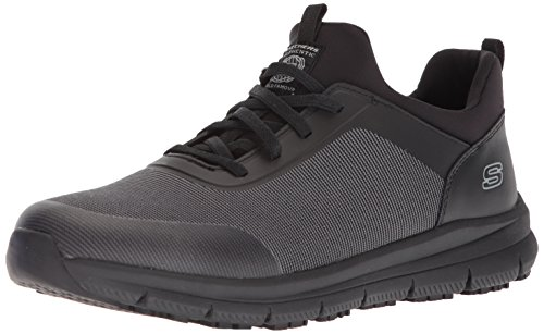 Skechers for Work Men's Wishaw Food Service Shoe,black charcoal textile,10 M US by Skechers