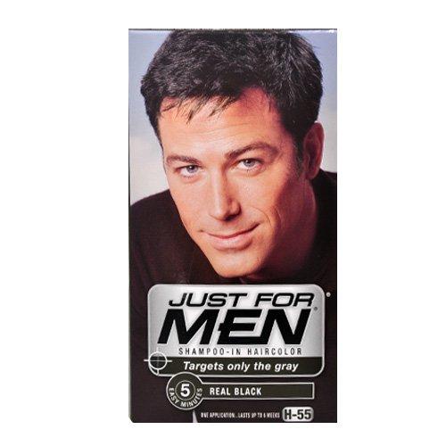 Just for Men shampooing-dans les cheveux couleur noir véritable H-55