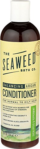 (The Seaweed Bath Co. Balancing Conditioner, Eucalyptus and Peppermint, Natural Organic Bladderwrack Seaweed, Vegan and Paraben Free, 12oz)