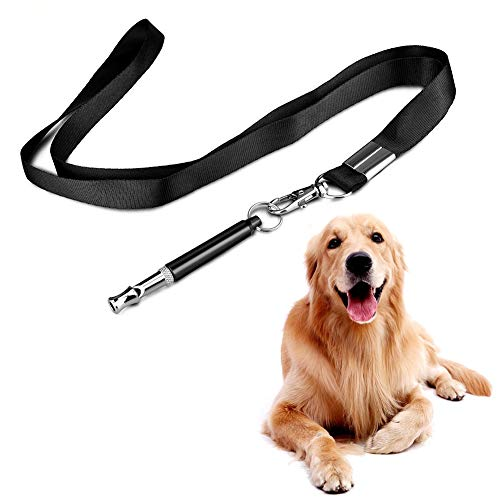 Albabara Dog Whistles,Professional Ultrasonic Dog Training Whistle to Stop Barking, Adjustable Pitch Ultrasonic Training Tool Silent Bark Control for Dogs Premium Quality Lanyard Strap]()