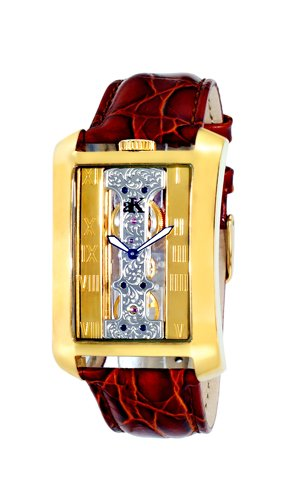 Watch Adee Kaye Men's Tablet Collection Watch Seagull 21 Jewel Mechanical Mineral AK7171-MG
