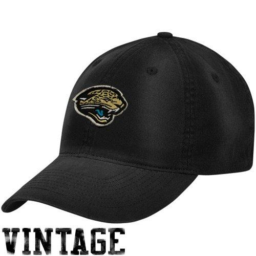 Reebok Jacksonville Jaguars Black Distressed Logo Slouch Flex ()